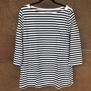 Merona Boat Neck Striped Shirt